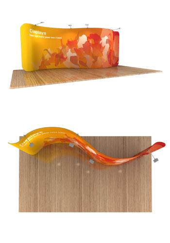 Serpentine Tension Fabric Displays
